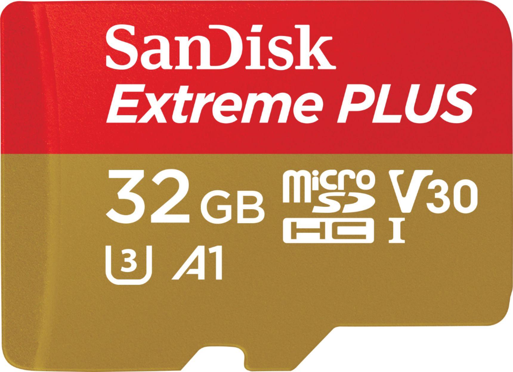 SanDisk - Extreme PLUS 32GB microSDHC UHS-I Memory Card