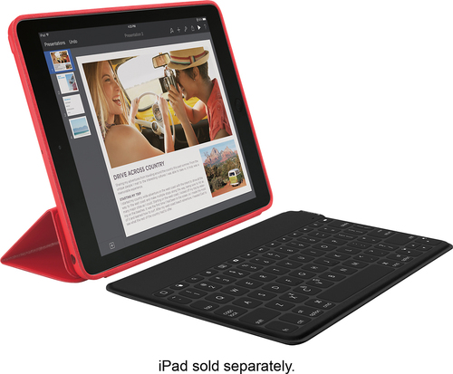 Logitech - Keys-To-Go Portable Keyboard for Apple® iPad® Air 2 - Black