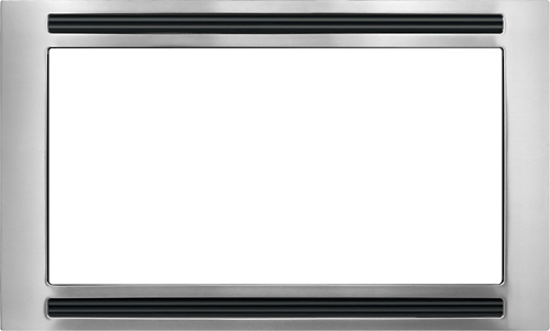 "Frigidaire - 30"" Trim Kit for Select Frigidaire Microwaves - Black/Stainless-Steel"
