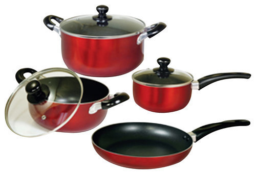 Image of Better Chef - 7-Piece Cookware Set - Red