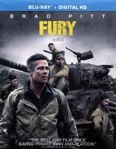 Fury [Includes Digital Copy] [UltraViolet] [Blu-ray] [2014] 9528106