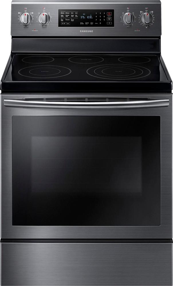 Samsung 5.9 Cu. Ft. Self-Cleaning Freestanding Electric Convection Range Black Stainless Steel NE59J7630SG