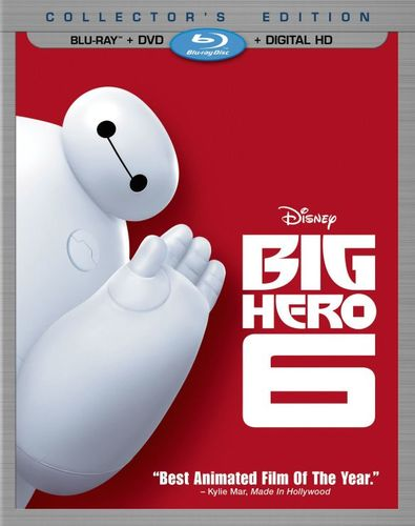 Big Hero 6 [2 Discs] [Includes Digital Copy] [Blu-ray/DVD] [2014] 9558201