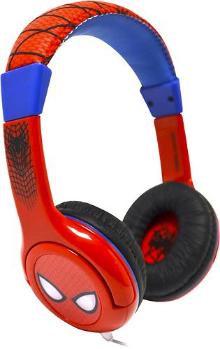 eKids - Ultimate Spider-Man On-Ear Headphones - White/Red/Blue/Black 9575126