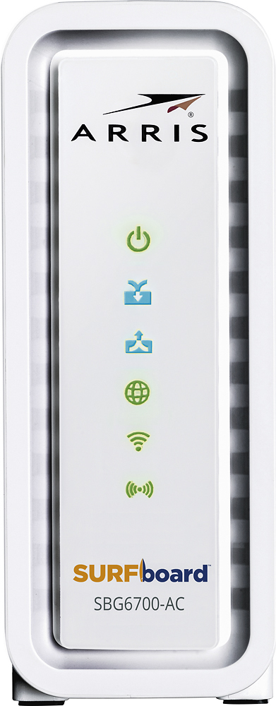 ARRIS - SURFboard AC1600 Dual-Band Router with DOCSIS 3.0 Cable Modem - White