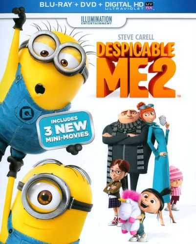Despicable Me 2 [2 Discs] [Includes Digital Copy] [UltraViolet] [Blu-ray/DVD] [2013] 9600139