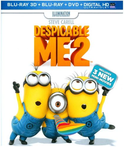 Despicable Me 2 [3 Discs] [Includes Digital Copy] [Ultraviolet] [3D] [Blu-ray/DVD] [Blu-ray/Blu-ray 3D/DVD] [2013] 9600157