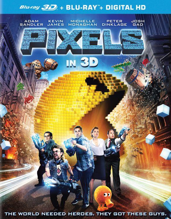 Pixels [3D] [Blu-ray] [2 Discs] [Blu-ray/Blu-ray 3D] [2015] 9600597