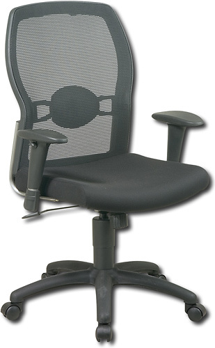 Office Star Furniture - Woven Mesh Back Office Chair - Black