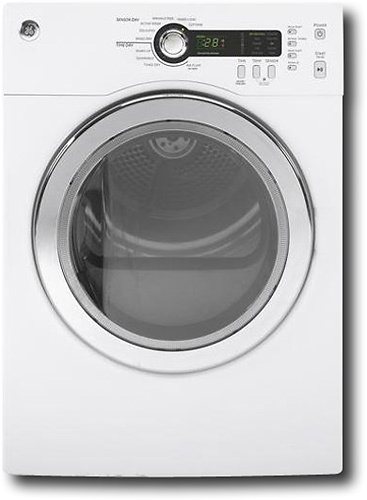GE - 4.0 Cu. Ft. 10-Cycle Electric Dryer - White