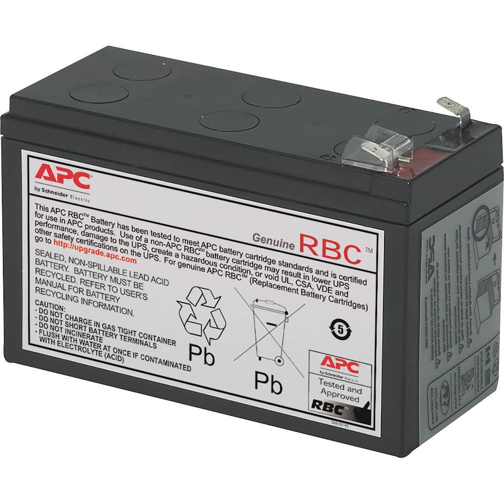 APC Rechargeable Lead Acid Replacement Battery Cartridge #17 for Select APC Back-Up Systems RBC17
