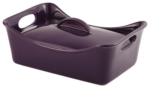 Rachael Ray - 3-1/2-Quart Covered Casserole - Purple