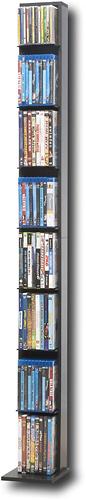 Atlantic - Elle 8-Tier Multimedia Storage Tower - Black/Gray 9735161