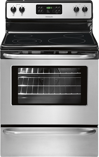 Frigidaire - 5.3 Cu. Ft. Self-Cleaning Freestanding Electric Range - Stainless steel