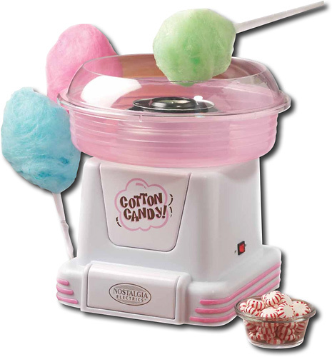 Nostalgia Electrics - Hard Candy Cotton Candy Maker - Pink