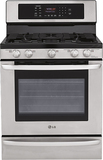 """LG 30"""" Self-Cleaning Freestanding Gas Convection Range Stainless Steel LRG3095ST"""
