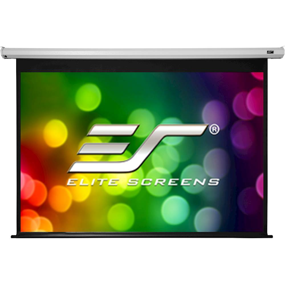 """Elite Screens Spectrum Series 120"""" Electric Motorized Projector Screen White ELECTRIC120V"""