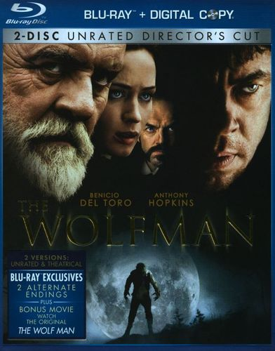 The Wolfman [Rated/Unrated Versions] [2 Discs] [Includes Digital Copy] [Blu-ray] [2010] 9909289