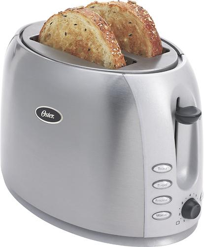 Oster - 2-Slice Wide-Slot Toaster - Black
