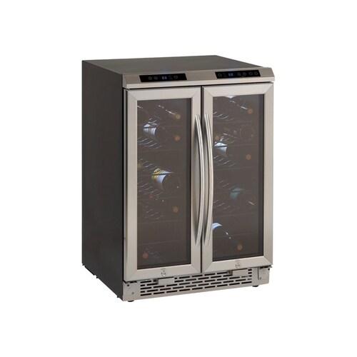 Avanti - 38-Bottle Dual Zone Wine Cooler - Stainless steel