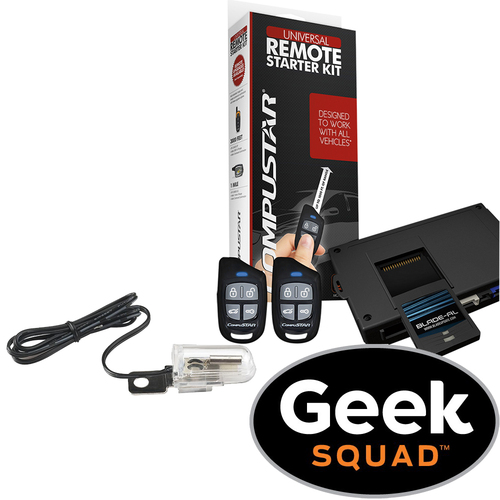 Compustar - CompuStar Remote Start Kit and Ball Bearing Tilt Switch with Geek Squad® Installation