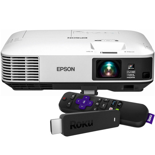 Epson - Home Cinema 1450 1080p Smart 3LCD Projector and Roku Streaming Stick Package