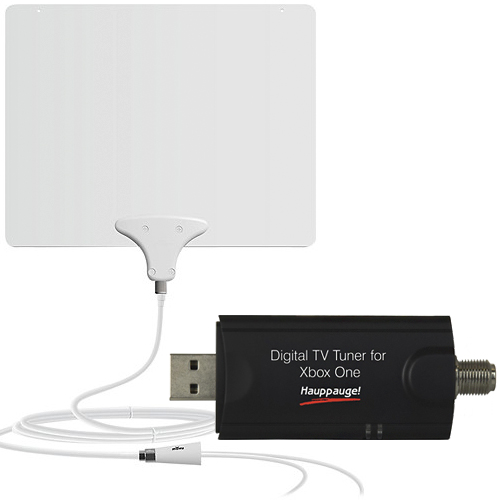 Xbox One USB TV Tuner and Mohu Leaf 50 HDTV Antenna Package