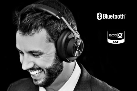 Man with headphones, Bluetooth