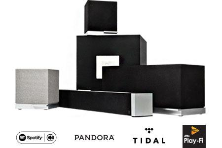 Speakers, subwoofer, sound bar, Spotify, Pandora, Tidal, Play-Fi