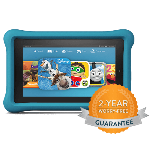 Tablet, 2 year worry free guarantee, fire kids edition