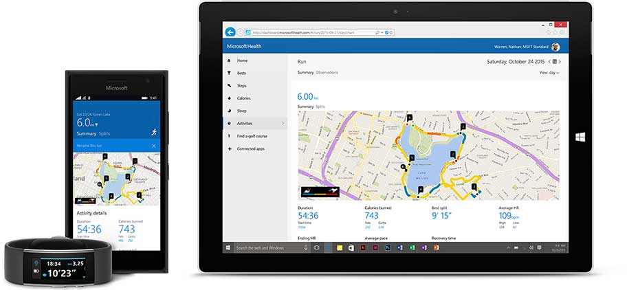Activity tracker, phones, Download from Windows Store, Get it on Google Play, Download on the App Store
