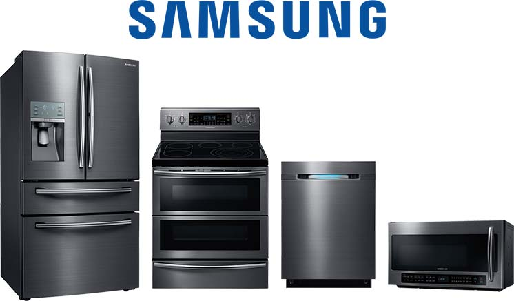 Samsung refrigerator, range, dishwasher and microwave