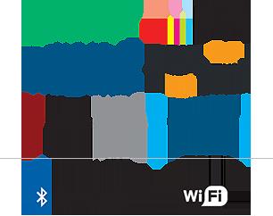 Spotify, Pandora, Deezer, iTunes, iHeartRadio, SiriusXM, Bluetooth, WiFi Certified