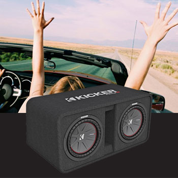 Subwoofer, car on road