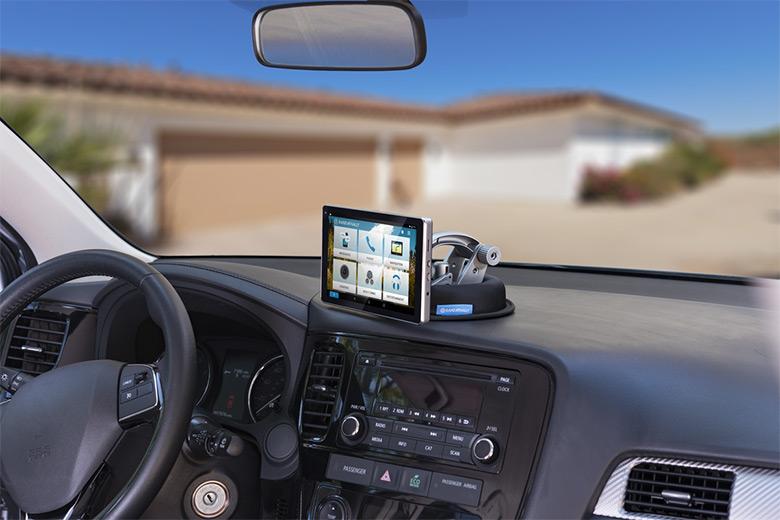 Car display on dashboard