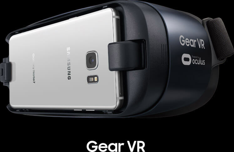 Virtual reality headset, cell phone