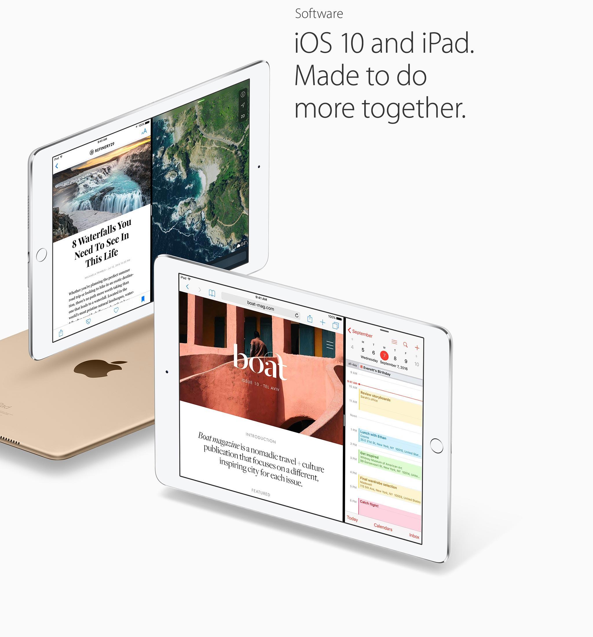 iOS 10. Made to do more together.