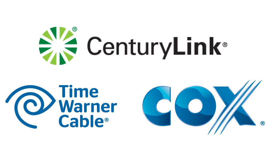 Time Warner Cable, CenturyLink, Cox