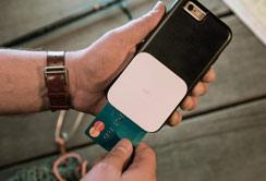 Phone reading credit card