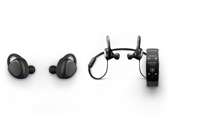headphones, fitness tracker