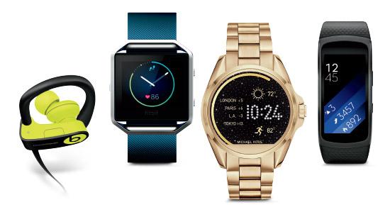 Watches, activity trackers, headphones