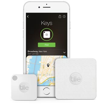 Tile item trackers