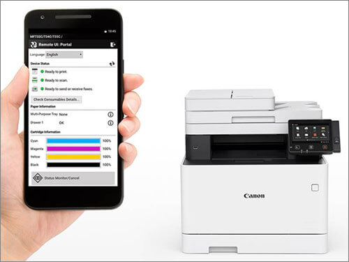 Printer and smartphone
