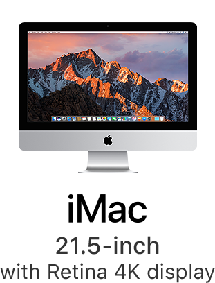 iMac 21.5-inch with Retina 4K display