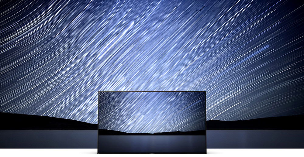 TV, night sky with stars