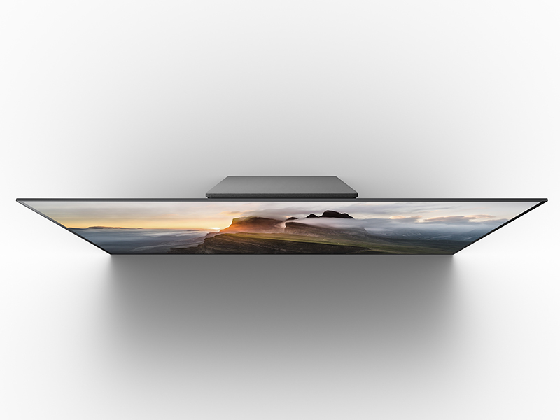 Top view of thin TV
