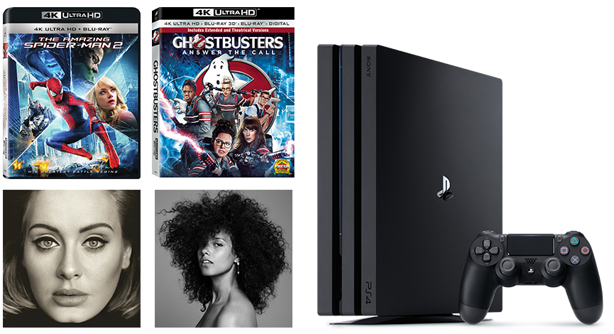 Sony PS4, The Amazing Spider-Man, Ghostbusters Answer the Call, Adele
