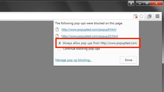 How to get rid of popups on chrome