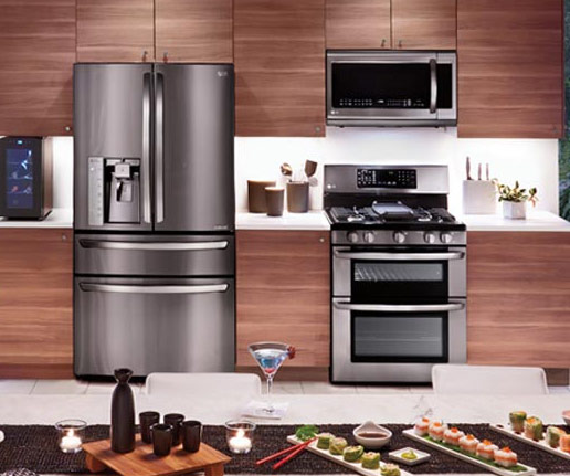Major appliances in kitchen