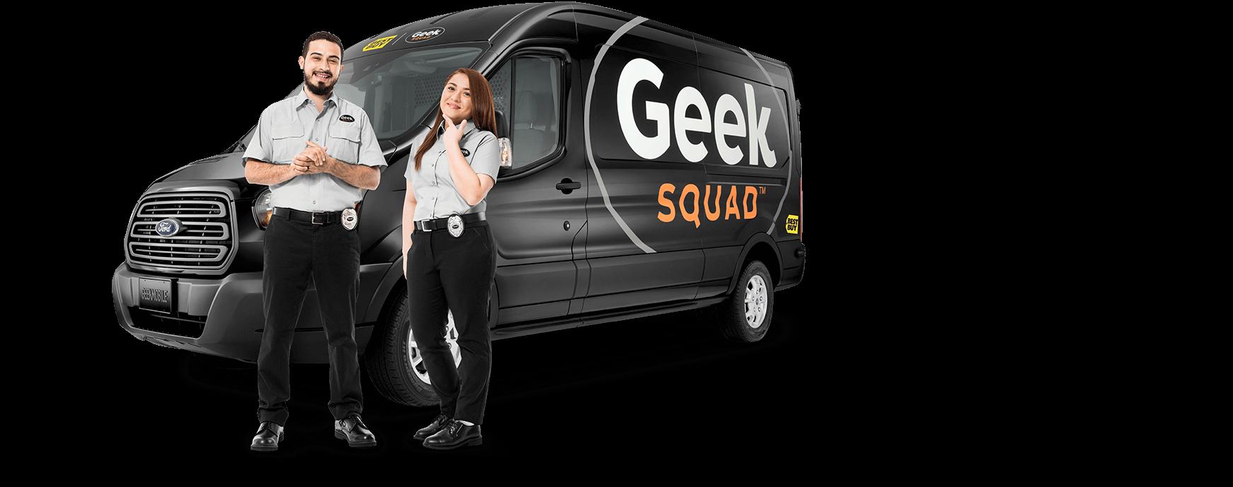 Geek Squad Agents and van